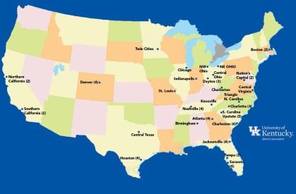 Alumni Activity Map