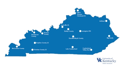 Map of Kentucky Activity