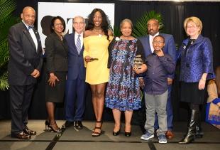 College of Nursing Torch Bearer Nana Ntodi and Torch of Excellence winner Alalia J. Mack