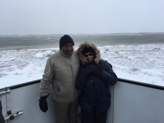 George and Valerie Wright on the Polar Bears of Churchill trip