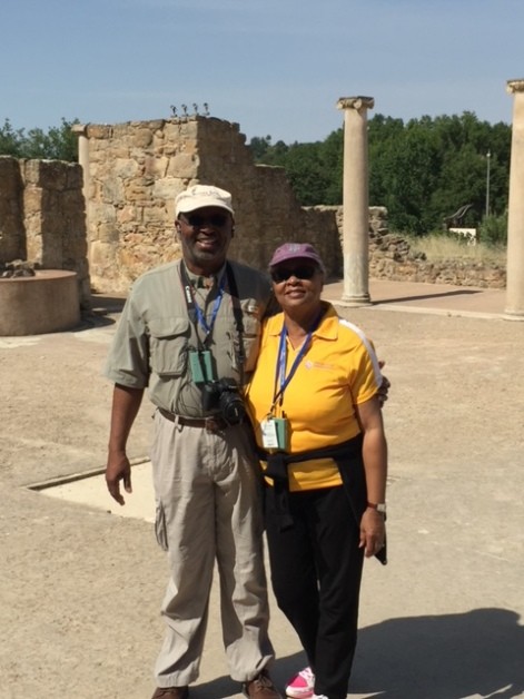 George and Valerie Wright in Sicily