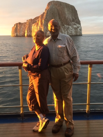George and Valerie Wright on the Galapagos Islands trip