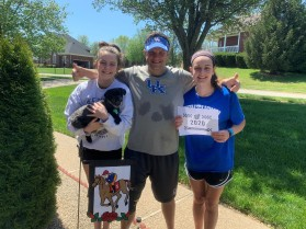 5K Jeff Ashley&current UK students Elizabeth and Clair