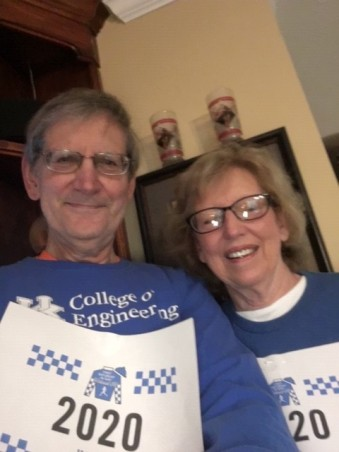 Margaret and Vic Nelson, Class of '71, just completed the 5K in Auburn, Alabama. They met at UK Newman Center the first Sunday of their freshman year in 1967